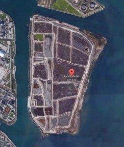 Vista dell'isola delle Tresse dopo i lavori